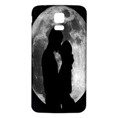 Silhouette Of Lovers Samsung Galaxy S5 Back Case (white) by Nexatart