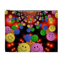 Smiley Laugh Funny Cheerful Cosmetic Bag (xl) by Nexatart