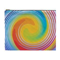 Rainbow Swirl Cosmetic Bag (xl) by OneStopGiftShop