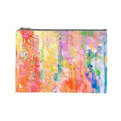 Watercolour Watercolor Paint Ink Cosmetic Bag (large)  by Nexatart