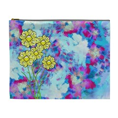 Backdrop Background Flowers Cosmetic Bag (xl) by Amaryn4rt