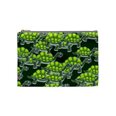Seamless Tile Background Abstract Turtle Turtles Cosmetic Bag (medium)  by Amaryn4rt