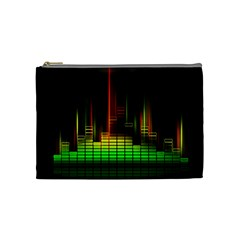 Plaid Light Neon Green Cosmetic Bag (medium)  by Alisyart