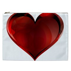 Heart Gradient Abstract Cosmetic Bag (xxl)  by Amaryn4rt