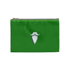 The Dude Beard White Green Cosmetic Bag (medium)  by Alisyart
