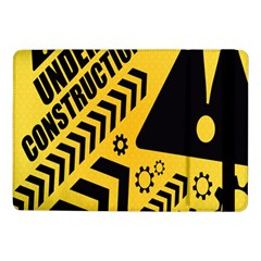 Under Construction Line Maintenen Progres Yellow Sign Samsung Galaxy Tab Pro 10 1  Flip Case by Alisyart