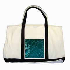 Water Bubble Blue Two Tone Tote Bag