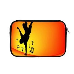 Breakdancer Dancing Orange Apple Macbook Pro 13  Zipper Case by Alisyart