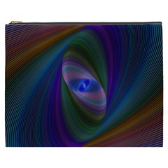 Ellipse Fractal Computer Generated Cosmetic Bag (xxxl)
