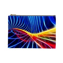 Color Colorful Wave Abstract Cosmetic Bag (large)  by Amaryn4rt