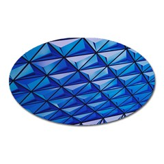 Lines Geometry Architecture Texture Oval Magnet by Amaryn4rt