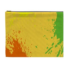 Paint Stains Spot Yellow Orange Green Cosmetic Bag (xl) by Alisyart