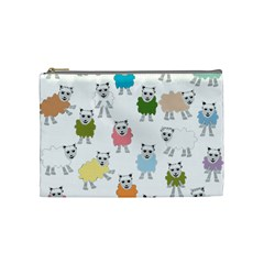 Sheep Cartoon Colorful Cosmetic Bag (medium)  by Amaryn4rt