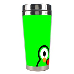 Animals Frog Face Green Stainless Steel Travel Tumblers by Alisyart