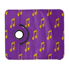 Eighth Note Music Tone Yellow Purple Galaxy S3 (flip/folio) by Alisyart