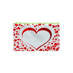 Love Red Hearth Cosmetic Bag (xs)