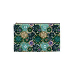 Flower Sunflower Floral Circle Star Color Purple Blue Cosmetic Bag (small)  by Alisyart