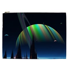 Planets In Space Stars Cosmetic Bag (xxl)  by Amaryn4rt