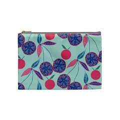 Passion Fruit Pink Purple Cerry Blue Leaf Cosmetic Bag (medium)  by Alisyart
