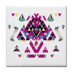Geometric Play Face Towel by Amaryn4rt