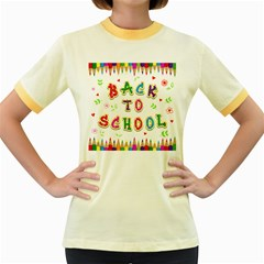 Back To School Women s Fitted Ringer T Shirts by Amaryn4rt
