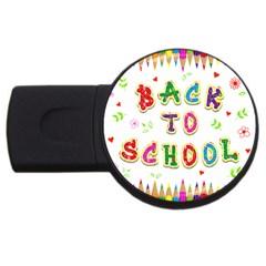 Back To School Usb Flash Drive Round (2 Gb) by Amaryn4rt