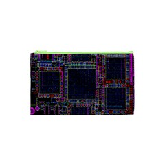 Technology Circuit Board Layout Pattern Cosmetic Bag (xs) by Amaryn4rt