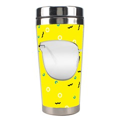 Glasses Yellow Stainless Steel Travel Tumblers by Alisyart