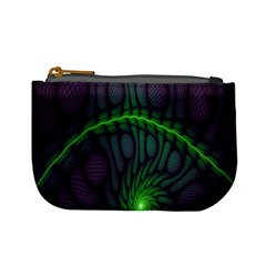Light Cells Colorful Space Greeen Mini Coin Purses