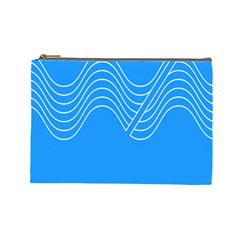 Waves Blue Sea Water Cosmetic Bag (large)  by Alisyart