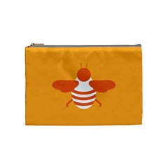 Littlebutterfly Illustrations Bee Wasp Animals Orange Honny Cosmetic Bag (medium)