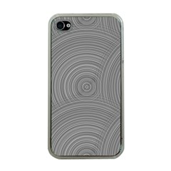 Circular Brushed Metal Bump Grey Apple Iphone 4 Case (clear) by Alisyart