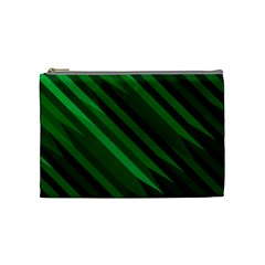 Abstract Blue Stripe Pattern Background Cosmetic Bag (medium)  by Simbadda