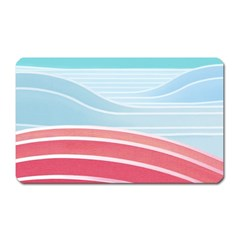Wave Waves Blue Red Magnet (rectangular)