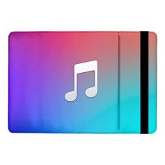 Tunes Sign Orange Purple Blue White Music Notes Samsung Galaxy Tab Pro 10 1  Flip Case by Alisyart