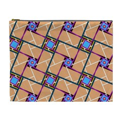 Overlaid Patterns Cosmetic Bag (xl) by Simbadda