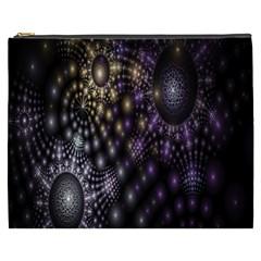 Fractal Patterns Dark Circles Cosmetic Bag (xxxl)  by Simbadda