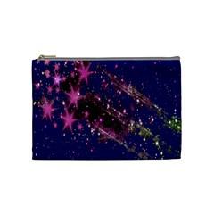 Stars Abstract Shine Spots Lines Cosmetic Bag (medium)  by Simbadda