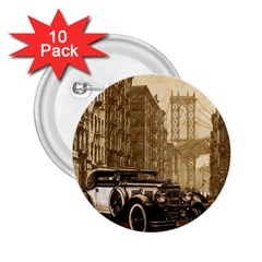 Vintage Old Car 2 25  Buttons (10 Pack)  by Valentinaart