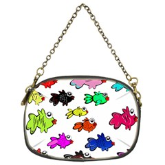 Fishes Marine Life Swimming Water Chain Purses (two Sides)  by Simbadda