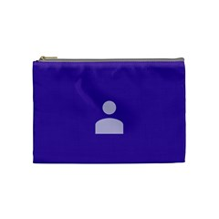 Man Grey Purple Sign Cosmetic Bag (medium)  by Alisyart