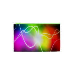Lines Wavy Ight Color Rainbow Colorful Cosmetic Bag (xs) by Alisyart