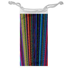 Multi Colored Lines Jewelry Bag by Simbadda