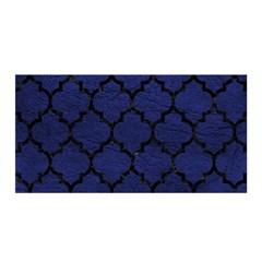 Tile1 Black Marble & Blue Leather (r) Satin Wrap by trendistuff