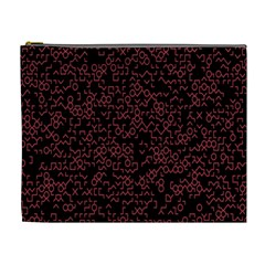 Random Pink Black Red Cosmetic Bag (xl) by Alisyart