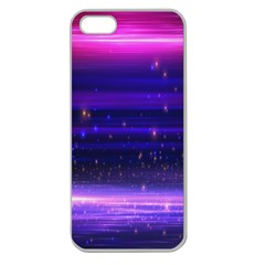 Space Planet Pink Blue Purple Apple Seamless Iphone 5 Case (clear) by Alisyart