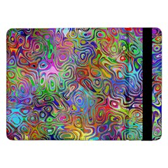 Glass Rainbow Color Samsung Galaxy Tab Pro 12 2  Flip Case by Alisyart