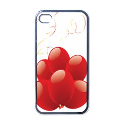 Balloon Partty Red Apple Iphone 4 Case (black) by Alisyart