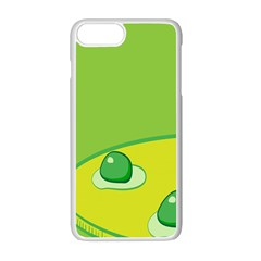 Food Egg Minimalist Yellow Green Apple Iphone 7 Plus White Seamless Case by Alisyart