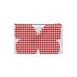 Hearts Butterfly Red Valentine Love Cosmetic Bag (Small)  Back